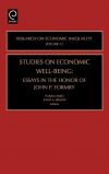 Jacket Image For: Studies on Economic Well Being