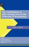 Jacket Image For: The Contributions of John Lansing Carey to the Profession of Accountancy