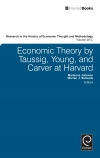 Jacket Image For: Economic Theory by Taussig, Young, and Carver at Harvard