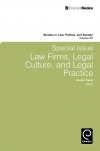 Jacket Image For: Special Issue: Law Firms, Legal Culture and Legal Practice