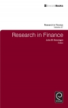 Jacket Image For: Research in Finance