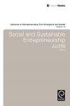 Jacket Image For: Social and Sustainable Entrepreneurship