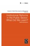 Jacket Image For: Institutional Reforms in the Public Sector