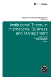 Jacket Image For: Institutional Theory in International Business