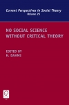 Jacket Image For: No Social Science without Critical Theory