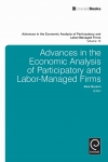 Jacket Image For: Advances in the Economic Analysis of Participatory and Labor-Managed Firms
