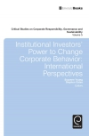 Jacket Image For: Institutional Investors' Power to Change Corporate Behavior