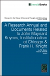Jacket Image For: A Research Annual and Documents Related to John Maynard Keynes, Institutionalism at Chicago & Frank H. Knight
