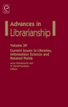Jacket Image For: Current Issues in Libraries, Information Science and Related Fields