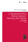 Jacket Image For: A Gedenkschrift to Randy Hodson