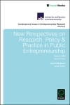 Jacket Image For: New Perspectives on Research, Policy & Practice in Public Entrepreneurship