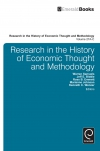 Jacket Image For: Research in the History of Economic Thought and Methodology (Part A, B & C)